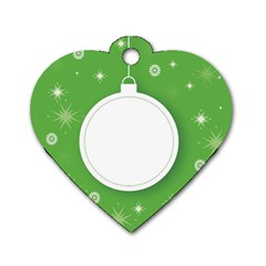 Christmas Bauble Ball Dog Tag Heart (two Sides)