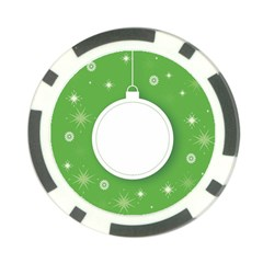 Christmas Bauble Ball Poker Chip Card Guard (10 Pack)