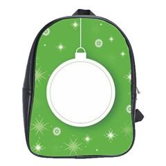 Christmas Bauble Ball School Bag (large)
