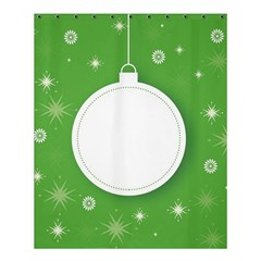 Christmas Bauble Ball Shower Curtain 60  X 72  (medium)