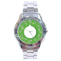 Christmas Bauble Ball Stainless Steel Analogue Watch