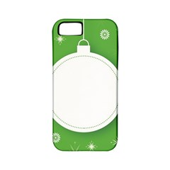 Christmas Bauble Ball Apple Iphone 5 Classic Hardshell Case (pc+silicone)