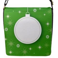 Christmas Bauble Ball Flap Messenger Bag (s)