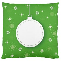 Christmas Bauble Ball Large Flano Cushion Case (one Side)