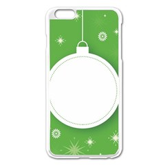 Christmas Bauble Ball Apple Iphone 6 Plus/6s Plus Enamel White Case