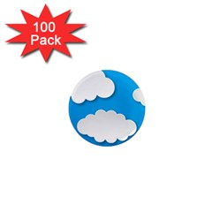 Clouds Sky Background Comic 1  Mini Magnets (100 Pack)