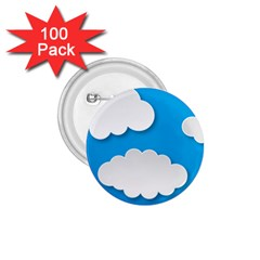 Clouds Sky Background Comic 1 75  Buttons (100 Pack)