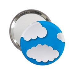 Clouds Sky Background Comic 2 25  Handbag Mirrors
