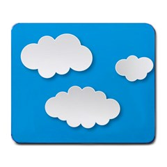 Clouds Sky Background Comic Large Mousepads