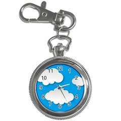 Clouds Sky Background Comic Key Chain Watches
