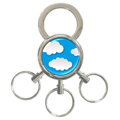 Clouds Sky Background Comic 3 Ring Key Chains