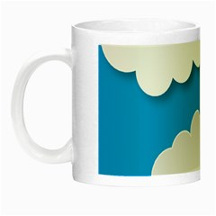 Clouds Sky Background Comic Night Luminous Mugs
