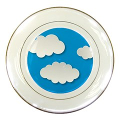 Clouds Sky Background Comic Porcelain Plates