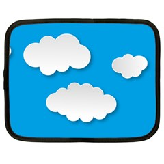 Clouds Sky Background Comic Netbook Case (large)