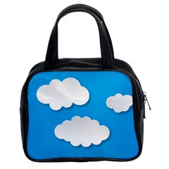 Clouds Sky Background Comic Classic Handbags (2 Sides)