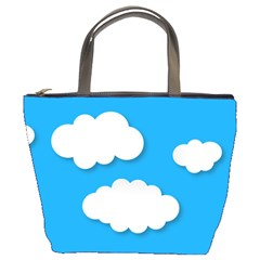 Clouds Sky Background Comic Bucket Bags