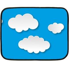 Clouds Sky Background Comic Fleece Blanket (mini)