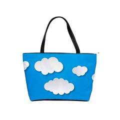 Clouds Sky Background Comic Shoulder Handbags