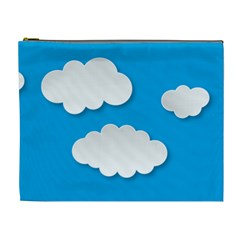 Clouds Sky Background Comic Cosmetic Bag (xl)