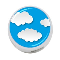 Clouds Sky Background Comic 4 Port Usb Hub (two Sides)