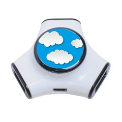 Clouds Sky Background Comic 3 Port Usb Hub