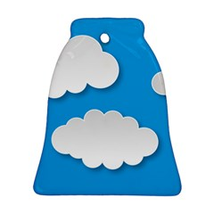 Clouds Sky Background Comic Ornament (bell)
