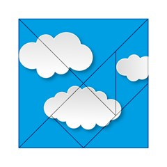 Clouds Sky Background Comic Acrylic Tangram Puzzle (6  X 6 )