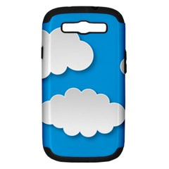 Clouds Sky Background Comic Samsung Galaxy S Iii Hardshell Case (pc+silicone)