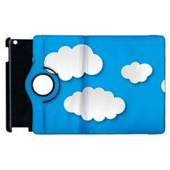Clouds Sky Background Comic Apple Ipad 3/4 Flip 360 Case