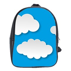 Clouds Sky Background Comic School Bag (xl)
