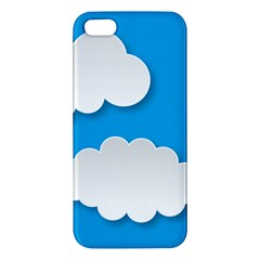 Clouds Sky Background Comic Iphone 5s/ Se Premium Hardshell Case