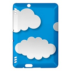 Clouds Sky Background Comic Kindle Fire Hdx Hardshell Case