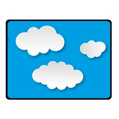 Clouds Sky Background Comic Double Sided Fleece Blanket (small)