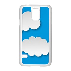 Clouds Sky Background Comic Samsung Galaxy S5 Case (white)