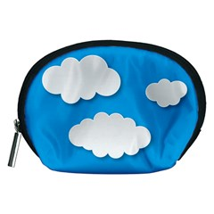 Clouds Sky Background Comic Accessory Pouches (medium)