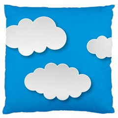 Clouds Sky Background Comic Standard Flano Cushion Case (one Side)