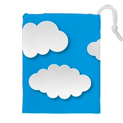 Clouds Sky Background Comic Drawstring Pouches (xxl)