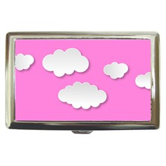 Clouds Sky Pink Comic Background Cigarette Money Cases