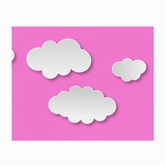 Clouds Sky Pink Comic Background Small Glasses Cloth (2 Side)