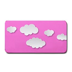 Clouds Sky Pink Comic Background Medium Bar Mats