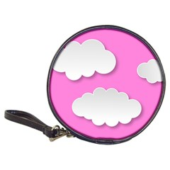 Clouds Sky Pink Comic Background Classic 20 Cd Wallets