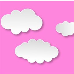 Clouds Sky Pink Comic Background Magic Photo Cubes