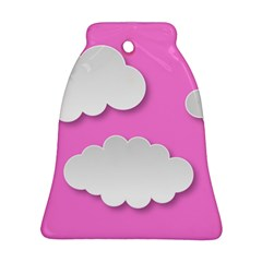 Clouds Sky Pink Comic Background Ornament (bell)