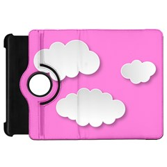 Clouds Sky Pink Comic Background Kindle Fire Hd 7