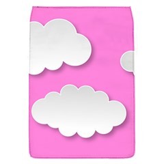 Clouds Sky Pink Comic Background Flap Covers (s)