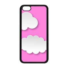 Clouds Sky Pink Comic Background Apple Iphone 5c Seamless Case (black)