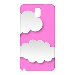 Clouds Sky Pink Comic Background Samsung Galaxy Note 3 N9005 Hardshell Back Case