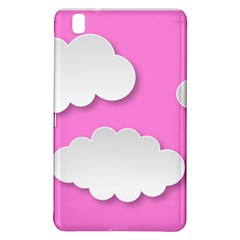 Clouds Sky Pink Comic Background Samsung Galaxy Tab Pro 8 4 Hardshell Case