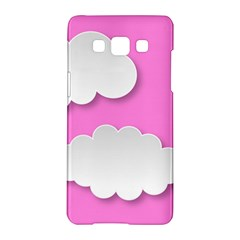 Clouds Sky Pink Comic Background Samsung Galaxy A5 Hardshell Case