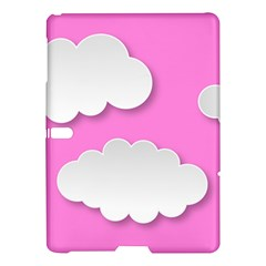 Clouds Sky Pink Comic Background Samsung Galaxy Tab S (10 5 ) Hardshell Case